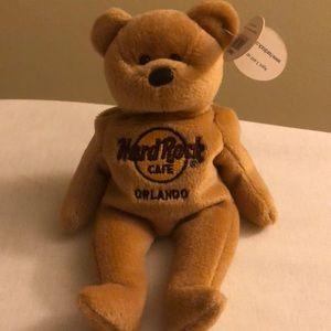Vtg Hard Rock Cafe Isaac Beara Beanie Baby Orlando